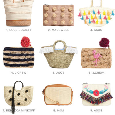 The Best Straw Bags For Summer '17