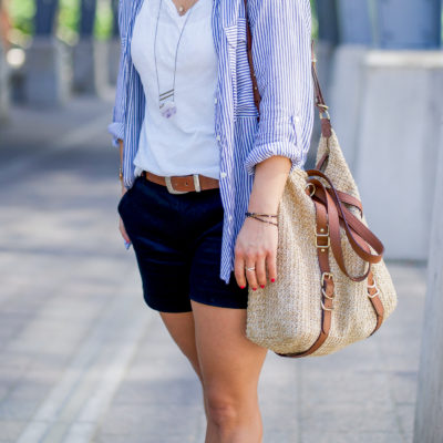 Dressing Down Black Dress Shorts