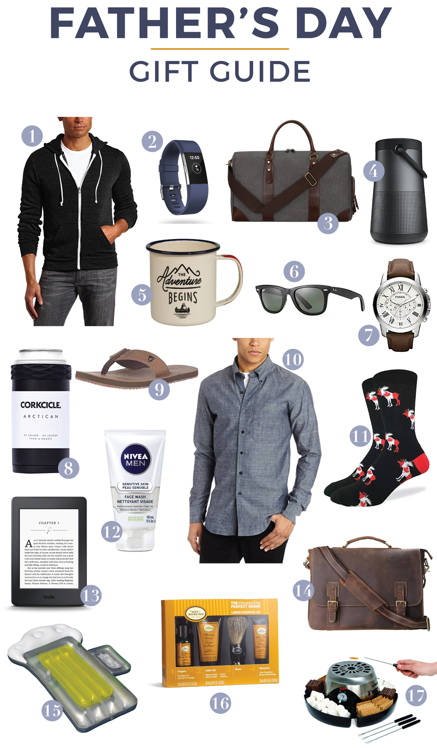Canadian lifestyle and fashion blogger is sharing a 2017 Father's Day Gift Guide, with some of the best picks from Amazon.ca