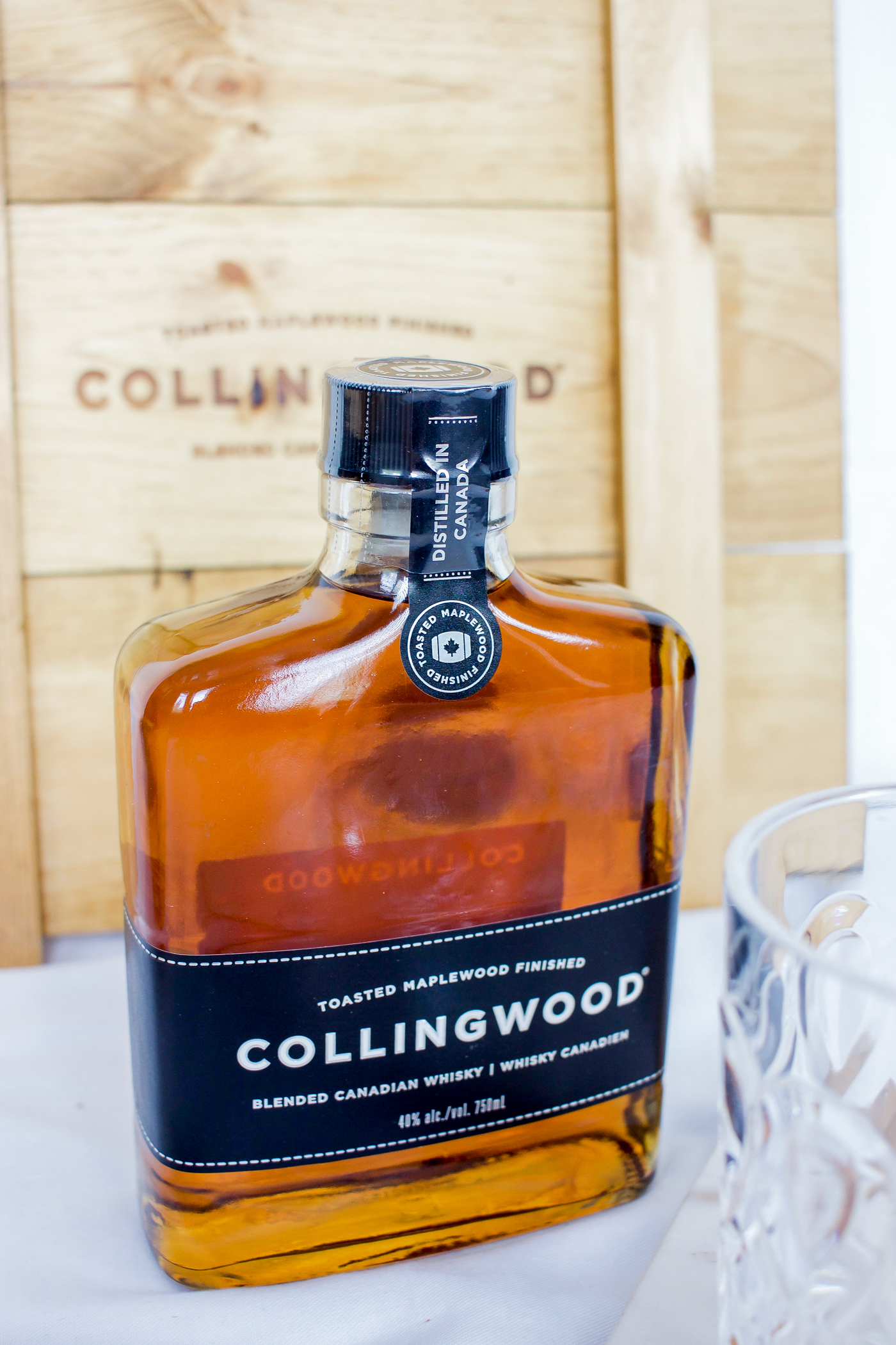 Collingwood Whiskey is what I used in the base of a girly, simple cocktail recipe