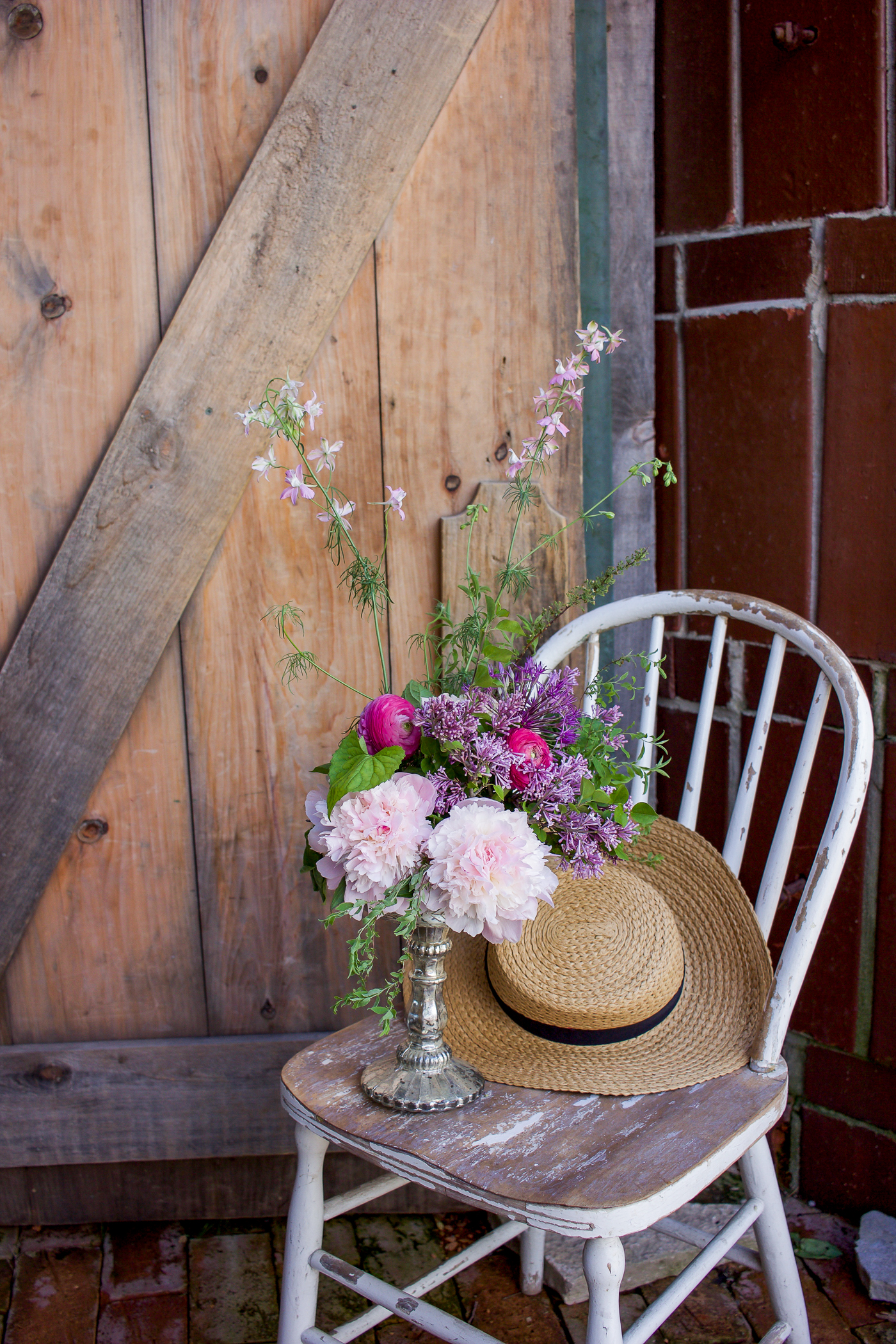 flowers and beautiful rustic farm decor