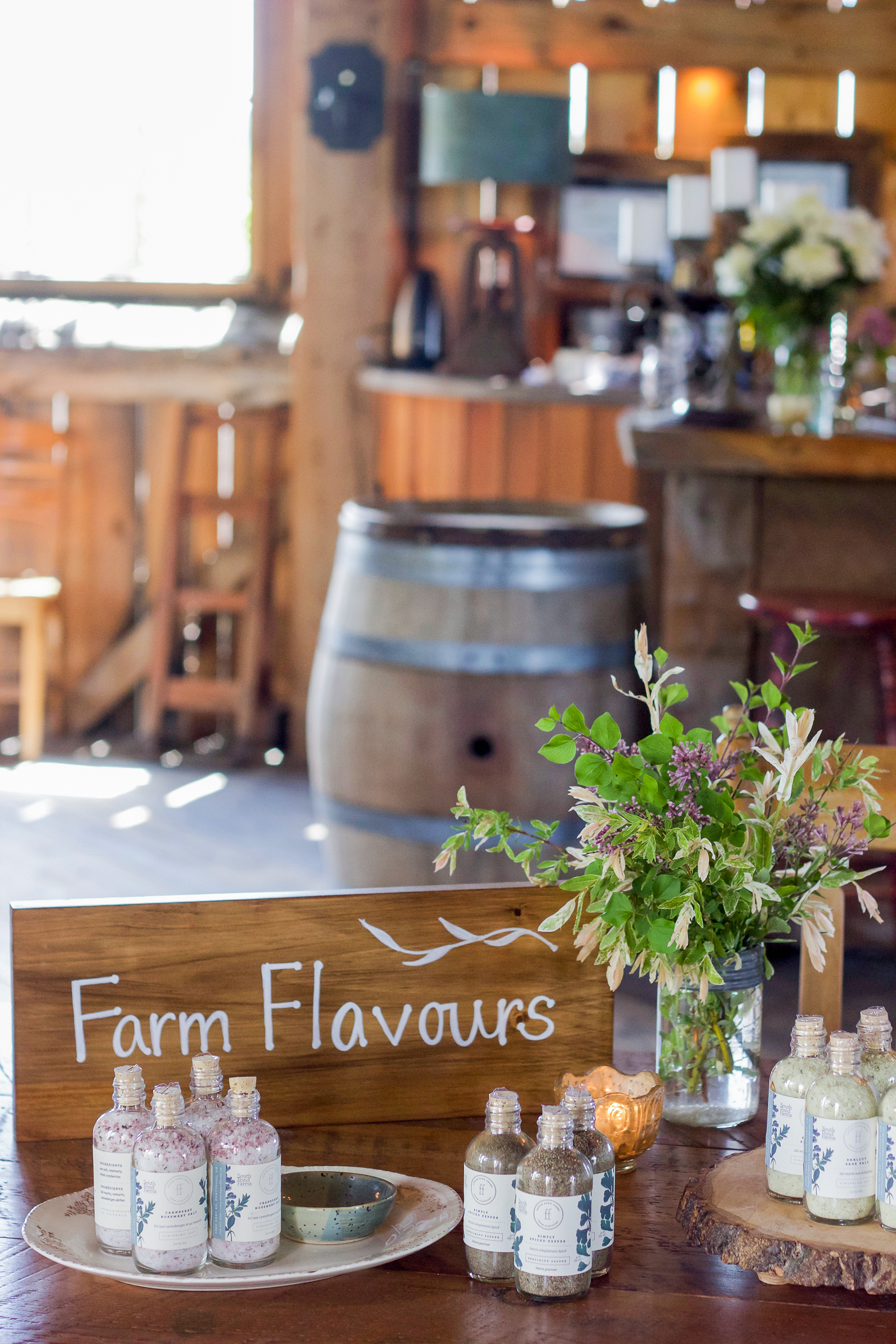 the local farm flavours and rustic tablescape at south pond farms outside of toronto