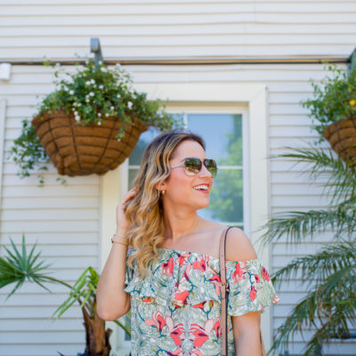 Summer Style Essential – The Floral Print Off-The-Shoulder Top
