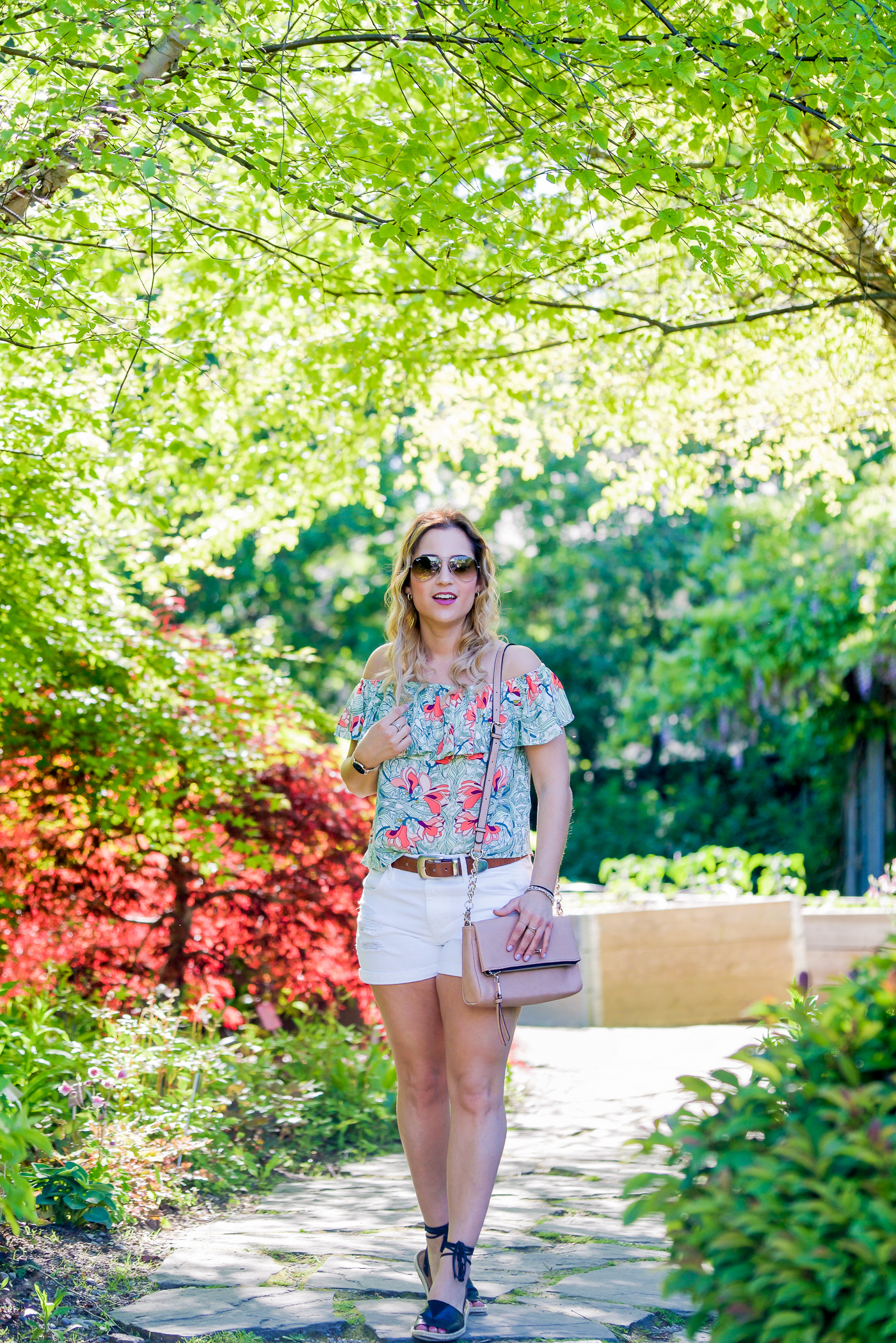 casual and summery outfit, worn by Toronto fashion blogger, Jackie Goldhar of Something About That