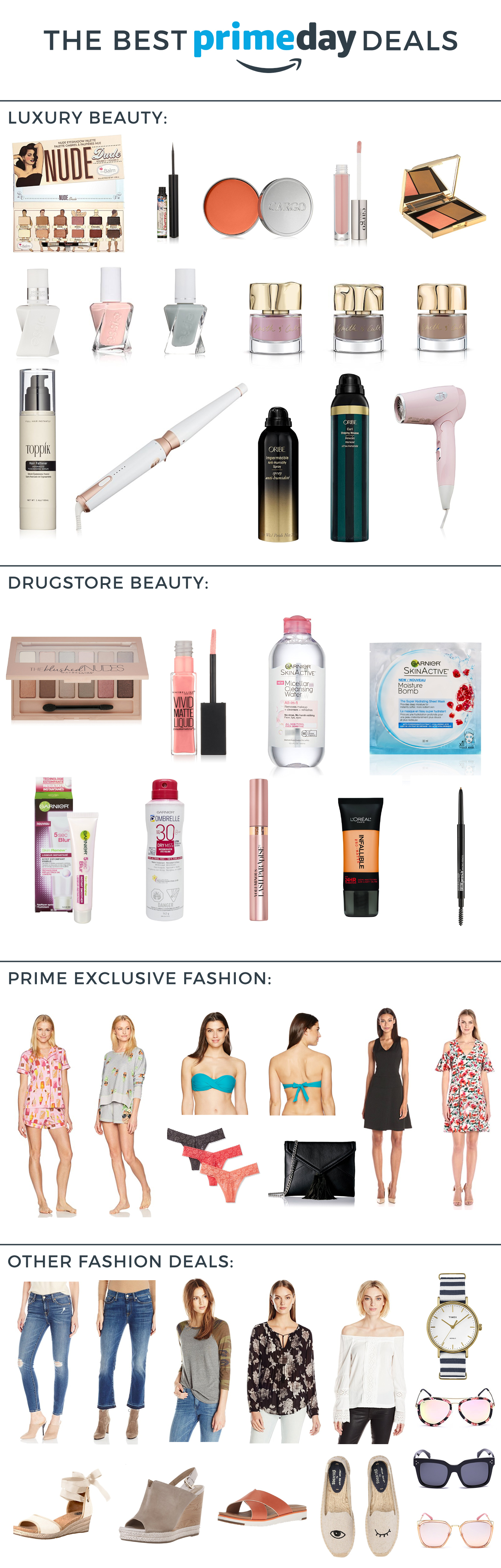 Canadian fashion and lifestyle blogger, Jackie Goldhar, shares her best Amazon Prime Day Deals for 2017 in fashion and beauty