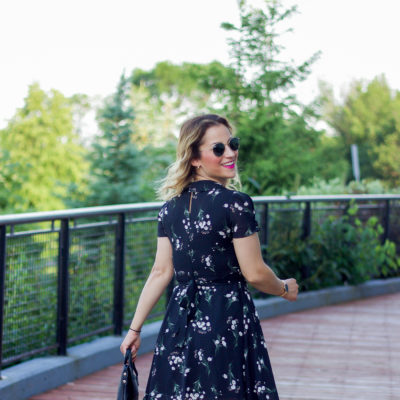 Easy Summer Outfit Idea: A Black Floral Dress