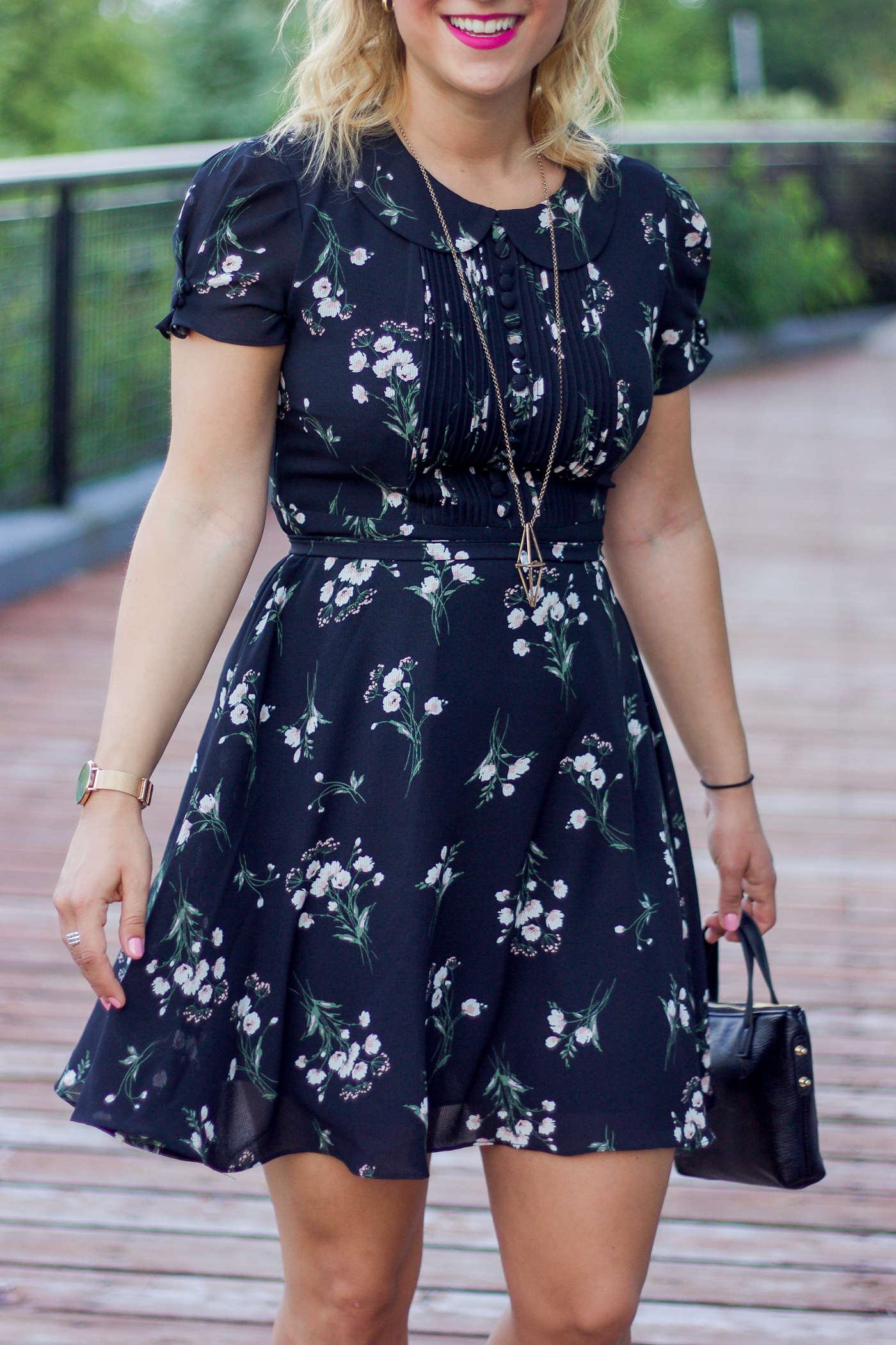 black floral summer dress from chicwish, worn by canadian fashion blog