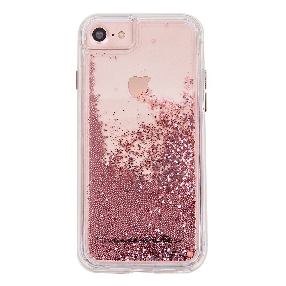 This case-mate iphone 7 case with pink water fall sparkles is one of my top back to school inspired must haves from amazon right now