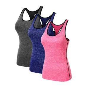Neleus Women's 3 Pack Compression Dry Fit Tank Top from Amazon.ca
