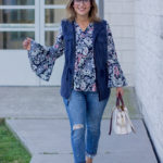 Casual Summer to Fall Outfit with Jeans