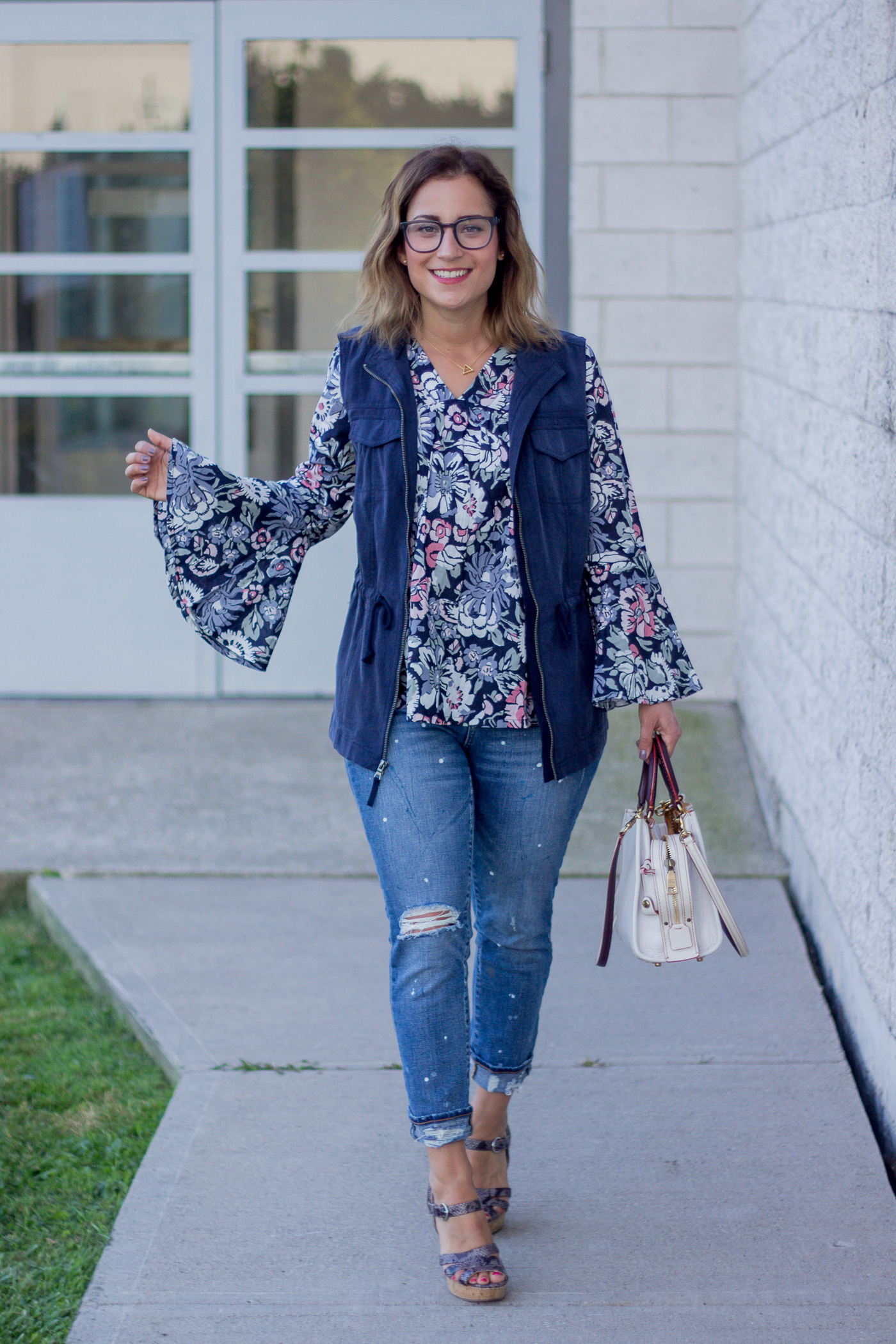 Summer to fall transitional pieces from Amazon, as worn by Canadian fashion blogger, Jackie at Something About That