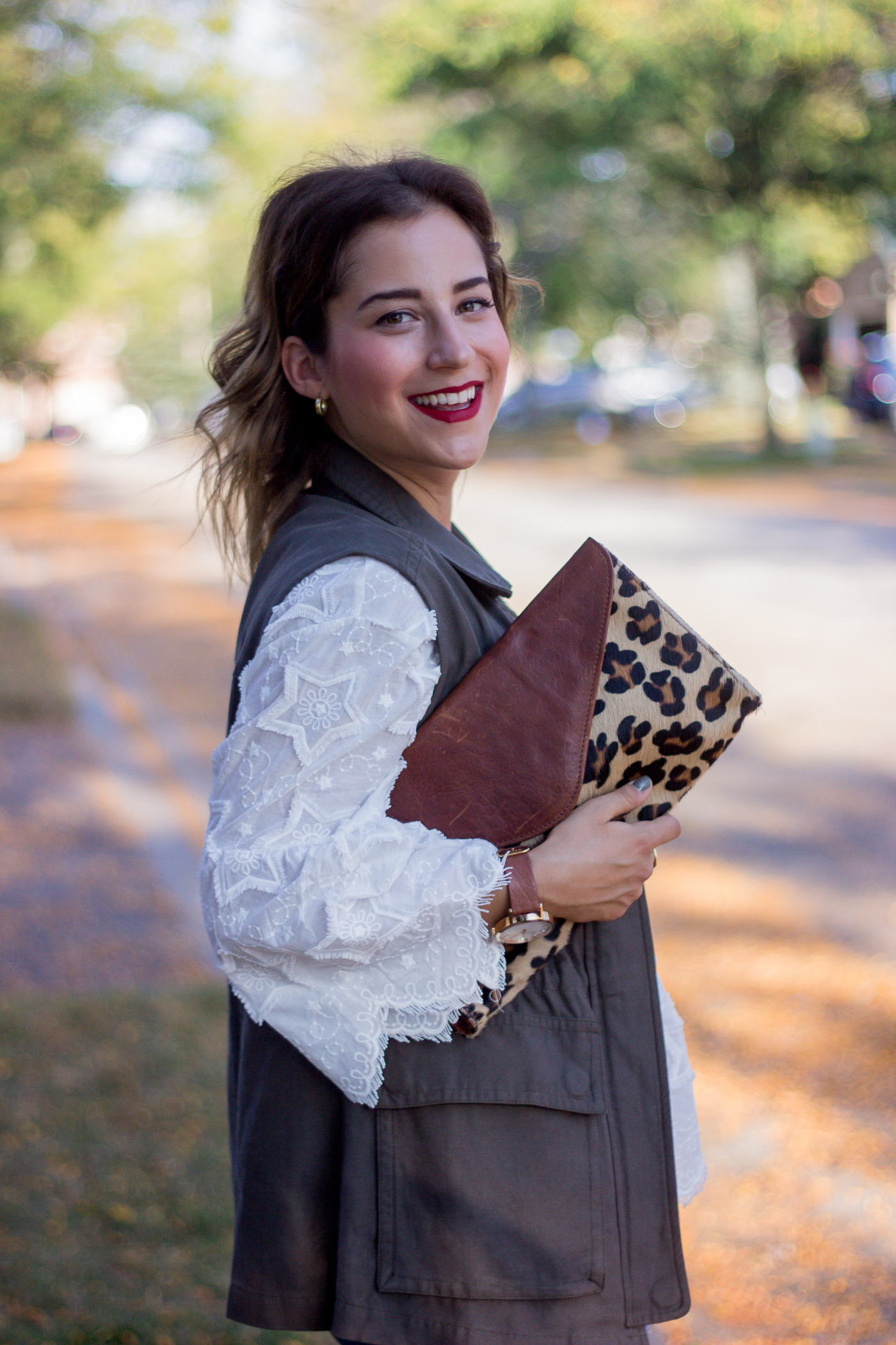 Canadian fashion and lifestyle blogger, Jackie at Something About That, wearing the Full of Stars Embroidered Dolly Top in White from Chicwish