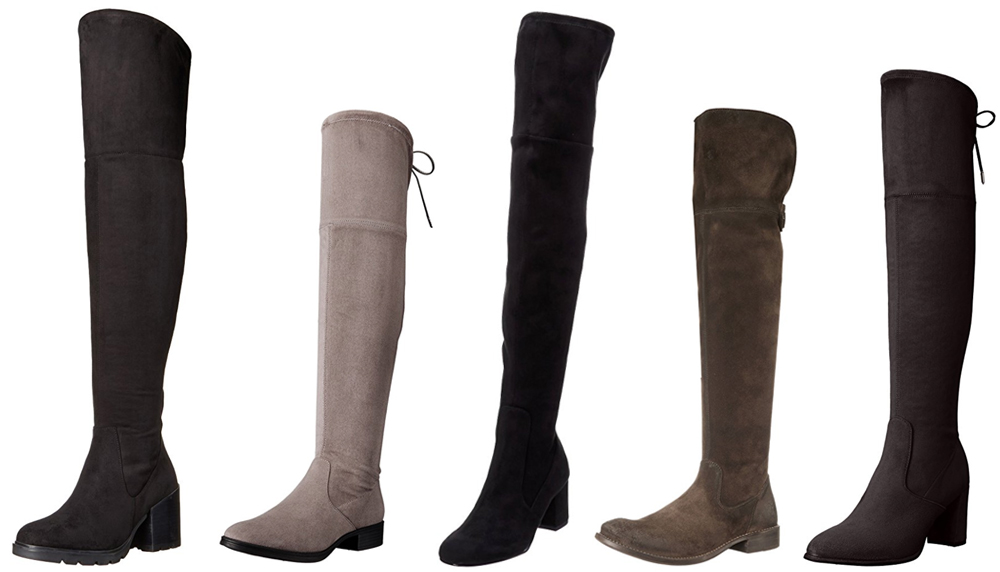 Best boots for fall and winter from Amazon in the over the knee style