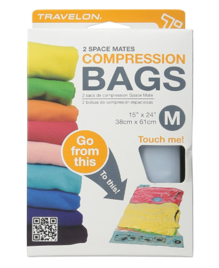Compression Bags to save space in your bag during travel