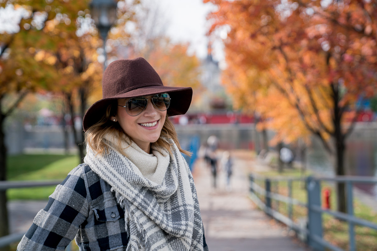 How to mix two different types of plaid into an effortless, chic outfit for fall and winter