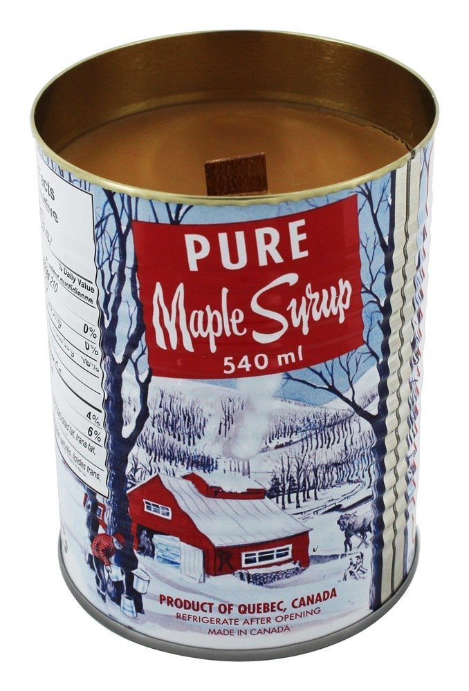 maple syrup candle with crackling wick