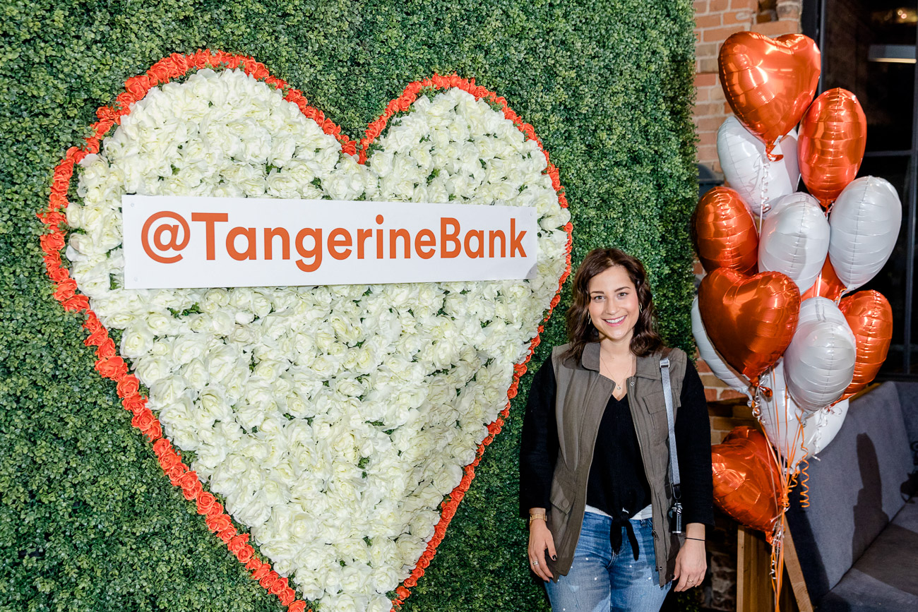 Toronto lifestyle blogger, Jackie Goldhar of Something About That, at Tangerine Bank's event at Brainstation about investing