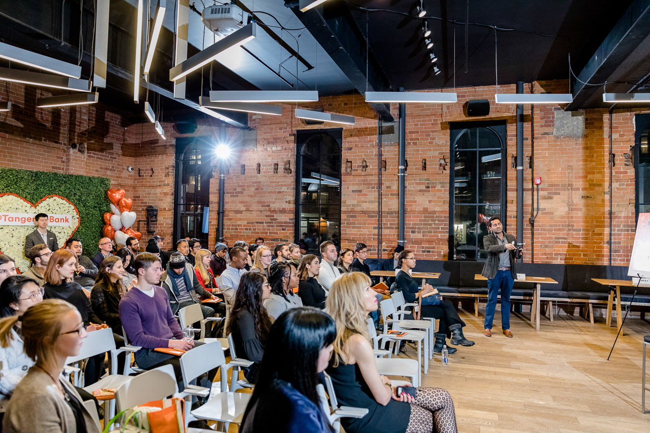 The basics about investing, from the Tangerine Love and Finance Event at Brainstation Toronto