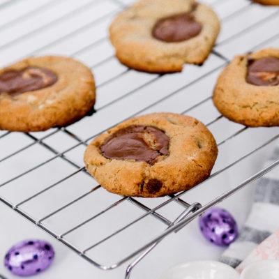 Easy Recipe For Small batch chocolate chip peanut butter cookies using leftover easter chocolate