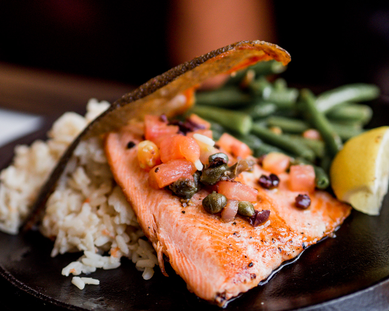 Rainbow trout entree