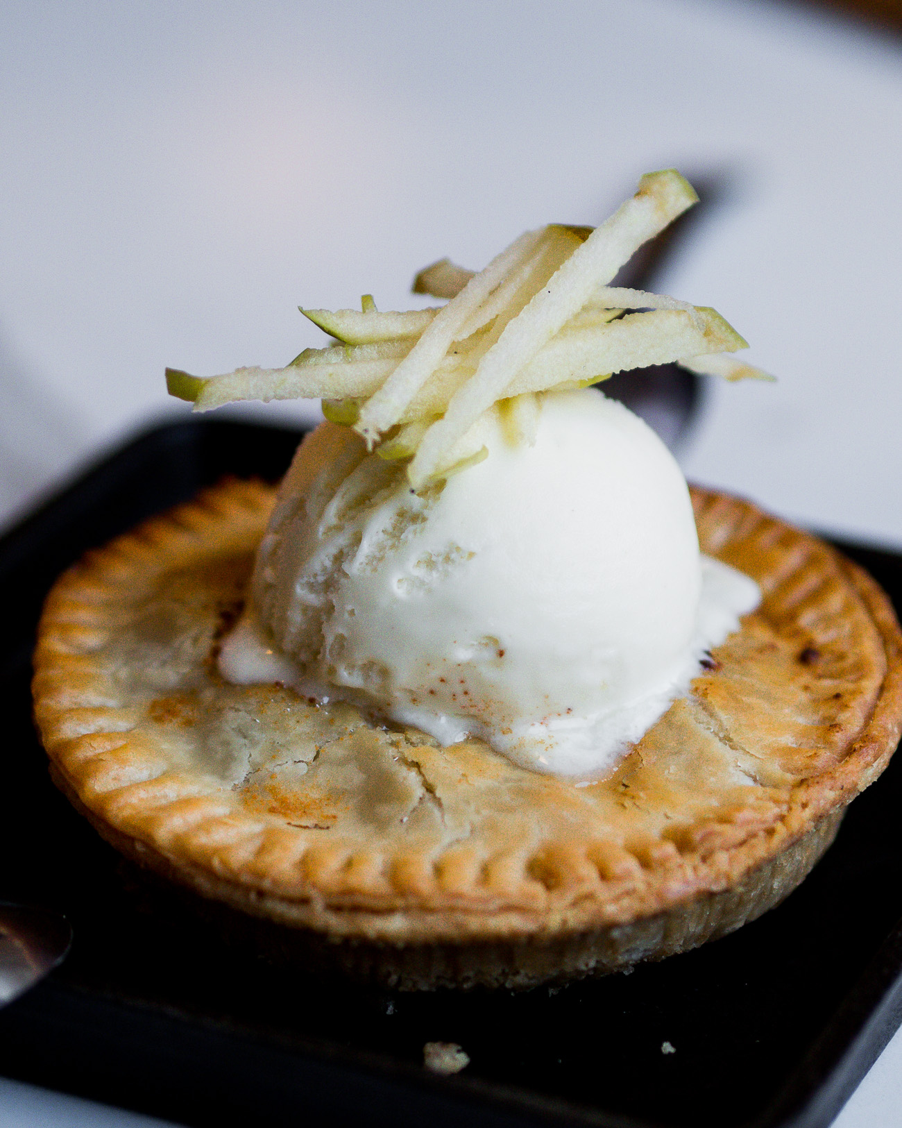 Freshly baked mini apple pie from The commoner Restaurant
