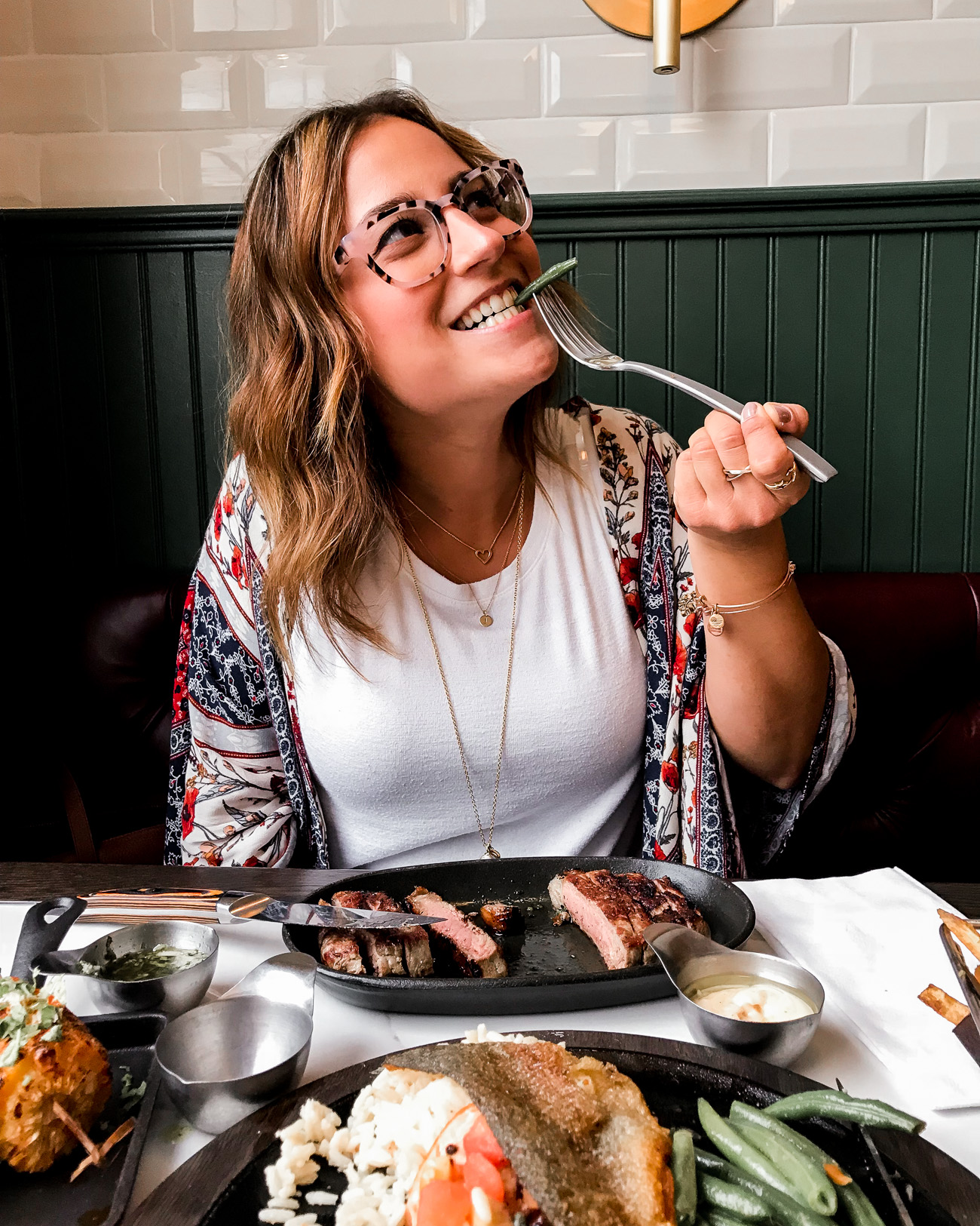 Toronto lifestyle and food blogger, Jackie Goldhar, trying the new at a new Toronto restaurant