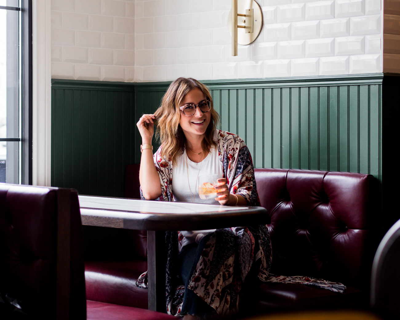 Toronto lifestyle and fashion blogger, Jackie Goldhar, from Something About That, at The Commoner Restaurant
