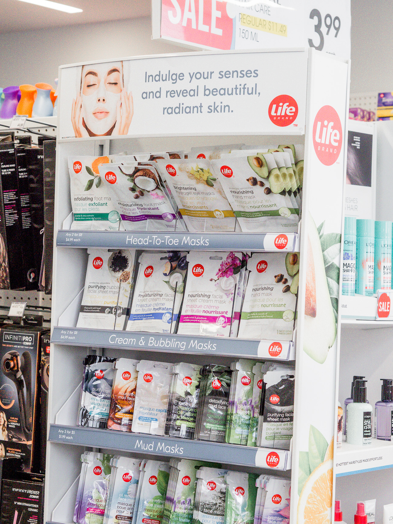 Life Brand face masks from Shoppers Drug Mart