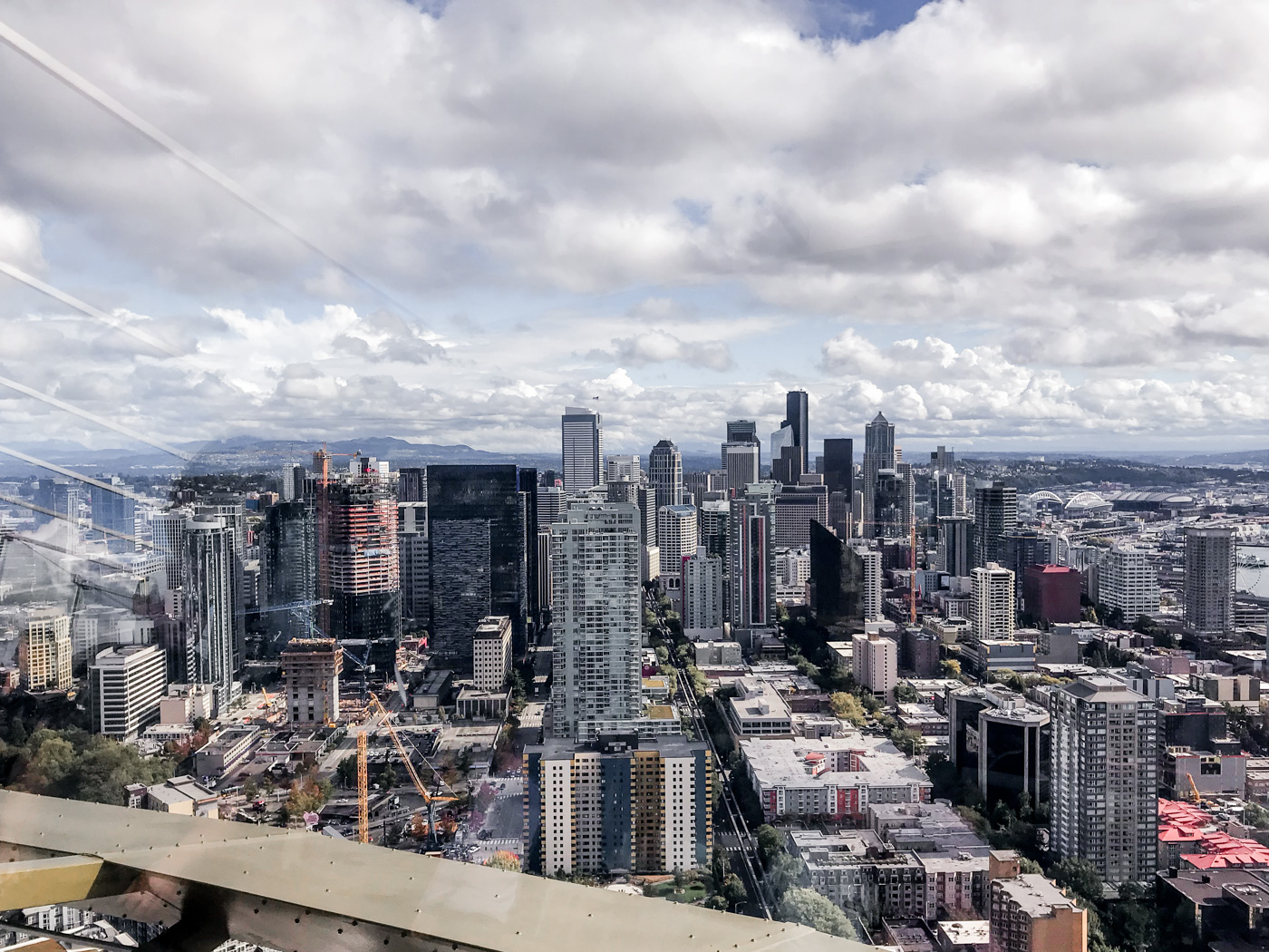 Top of the Space Needle in Seattle