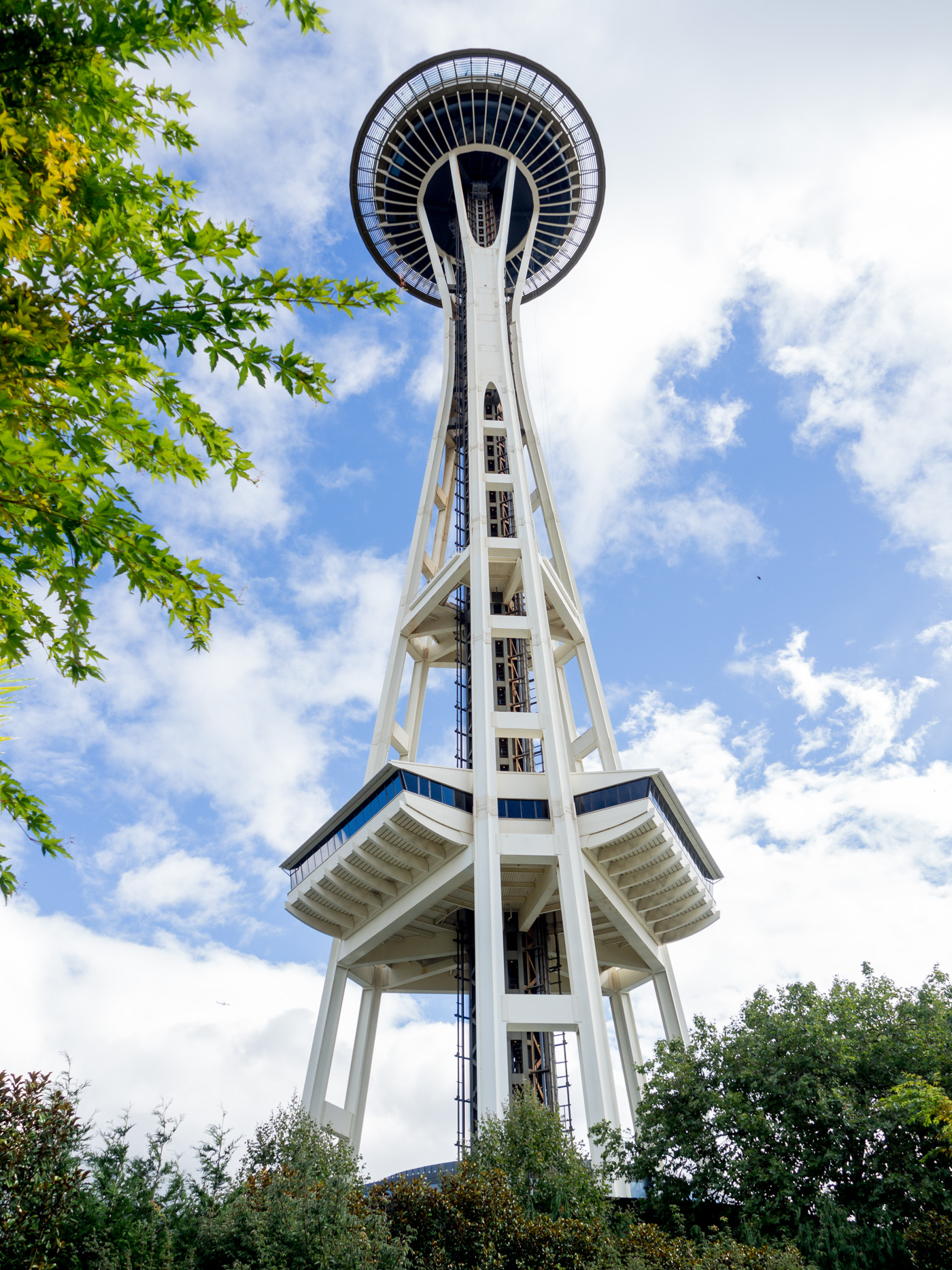 Bird's eye view of the Space Needle in Seattle