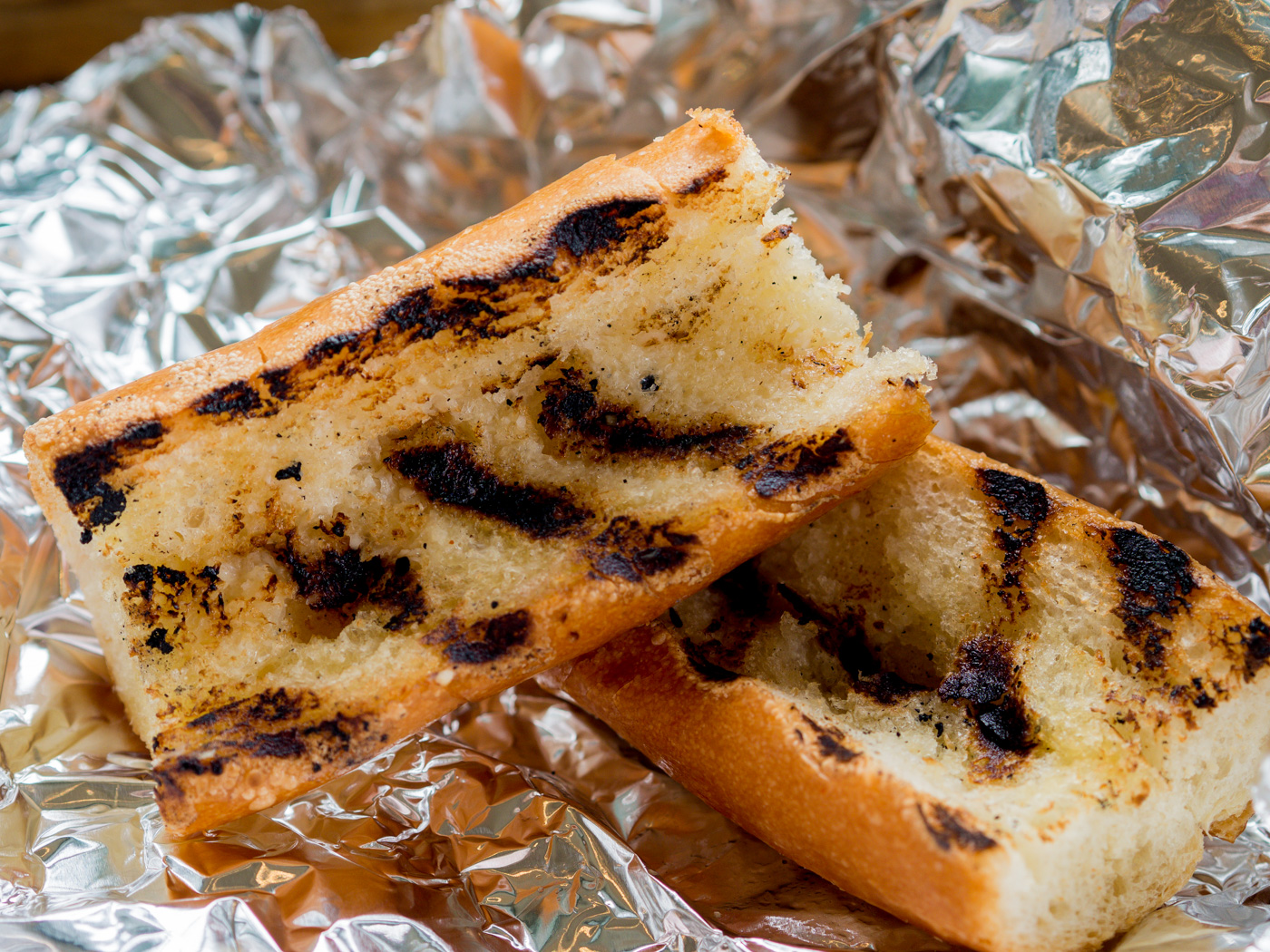 Grilled garlic bread from the Market Grill at Pike Place Seattle
