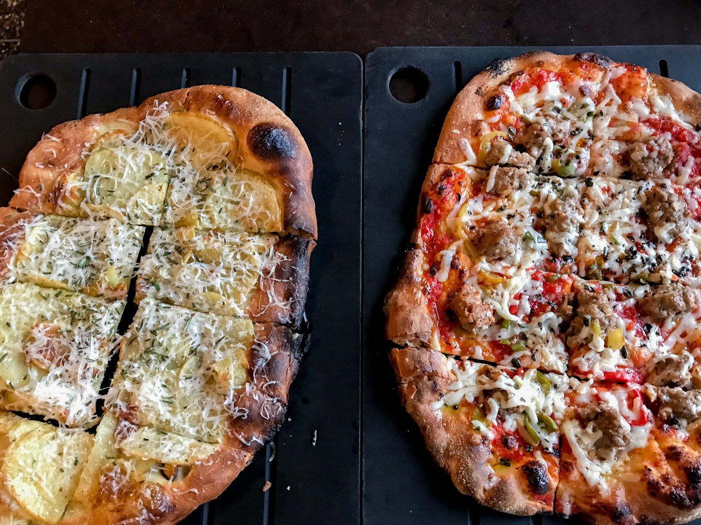 Thin crust pizza at Seattle's Serious Pie